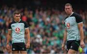 10 August 2019; Garry Ringrose of Ireland, left, with team-mate Chris Farrell during the Guinness Summer Series 2019 match between Ireland and Italy at the Aviva Stadium in Dublin. Photo by Brendan Moran/Sportsfile