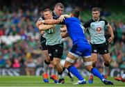 10 August 2019; Andrew Conway of Ireland is tackled by Alessandro Zanni of Italy during the Guinness Summer Series 2019 match between Ireland and Italy at the Aviva Stadium in Dublin. Photo by Brendan Moran/Sportsfile