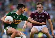 11 August 2019; Dylan Geaney of Kerry in action against Jonathan McGrath of Galway  during the Electric Ireland GAA Football All-Ireland Minor Championship Semi-Final match between Kerry and Galway at Croke Park in Dublin. Photo by Ray McManus/Sportsfile