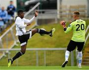 11 August 2019; BJ Banda of Letterkenny Rovers in action against Tom Murphy of UCD during the Extra.ie FAI Cup First Round match between UCD and Letterkenny Rovers at UCD Bowl in Belfield, Dublin. Photo by Seb Daly/Sportsfile