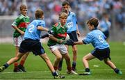 10 August 2019; Elliot Friel, Scoil Iosagáin Buncrana, Inishowen, Donegal, representing Mayo, during the INTO Cumann na mBunscol GAA Respect Exhibition Go Games during the GAA Football All-Ireland Senior Championship Semi-Final match between Dublin and Mayo at Croke Park in Dublin. Photo by Ramsey Cardy/Sportsfile