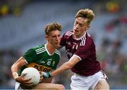 11 August 2019; Colin Crowley of Kerry in action against Ethan Fiorentini of Galway during the Electric Ireland GAA Football All-Ireland Minor Championship Semi-Final match between Kerry and Galway at Croke Park in Dublin. Photo by Ray McManus/Sportsfile