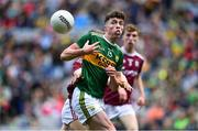 11 August 2019; Emmet O'Shea of Kerry in action against Liam Tevnan of Galway during the Electric Ireland GAA Football All-Ireland Minor Championship Semi-Final match between Kerry and Galway at Croke Park in Dublin. Photo by Brendan Moran/Sportsfile
