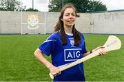 11 August 2019; Dublin camogie player Siobhan Kehoe from Naomh Fionbarra GAA Club is pictured at the launch of Community Credit Union's 10-year sponsorship of the new 'Community Park' pitch at Naomh Fionnbarra GAA Club in Cabra, Dublin, marking the first day of Naomh Fionnbarra's Festival Week 2019. Photo by Harry Murphy/Sportsfile