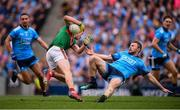 10 August 2019; Fionn McDonagh of Mayo and Jack McCaffrey of Dublin during the GAA Football All-Ireland Senior Championship Semi-Final match between Dublin and Mayo at Croke Park in Dublin. Photo by Stephen McCarthy/Sportsfile
