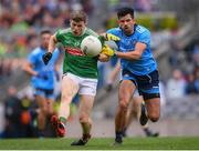 10 August 2019; Eoin O'Donoghue of Mayo and Cian O'Sullivan of Dublin during the GAA Football All-Ireland Senior Championship Semi-Final match between Dublin and Mayo at Croke Park in Dublin. Photo by Stephen McCarthy/Sportsfile