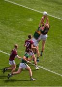 11 August 2019; James McLaughlin of Galway in action against Cathal Ó Beaglaoich of Kerry during the Electric Ireland GAA Football All-Ireland Minor Championship Semi-Final match between Kerry and Galway at Croke Park in Dublin. Photo by Daire Brennan/Sportsfile