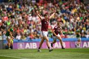 11 August 2019; Tomo Culhane of Galway celebrates following the Electric Ireland GAA Football All-Ireland Minor Championship Semi-Final match between Kerry and Galway at Croke Park in Dublin. Photo by Eóin Noonan/Sportsfile