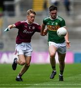 11 August 2019; Jack O'Connor of Kerry in action against Ethan Fiorentini of Galway during the Electric Ireland GAA Football All-Ireland Minor Championship Semi-Final match between Kerry and Galway at Croke Park in Dublin. Photo by Piaras Ó Mídheach/Sportsfile