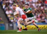 11 August 2019; Frank Burns of Tyrone in action against Paul Murphy of Kerry during the GAA Football All-Ireland Senior Championship Semi-Final match between Kerry and Tyrone at Croke Park in Dublin. Photo by Stephen McCarthy/Sportsfile