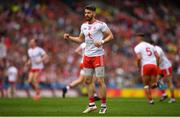 11 August 2019; Mattie Donnelly of Tyrone celebrates after scoring a point for his side during the GAA Football All-Ireland Senior Championship Semi-Final match between Kerry and Tyrone at Croke Park in Dublin. Photo by Eóin Noonan/Sportsfile