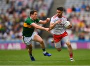 11 August 2019; Mattie Donnelly of Tyrone in action against Shane Enright of Kerry during the GAA Football All-Ireland Senior Championship Semi-Final match between Kerry and Tyrone at Croke Park in Dublin. Photo by Eóin Noonan/Sportsfile