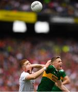 11 August 2019; Cathal McShane of Tyrone in action against Jason Foley of Kerry during the GAA Football All-Ireland Senior Championship Semi-Final match between Kerry and Tyrone at Croke Park in Dublin. Photo by Eóin Noonan/Sportsfile