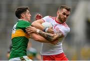 11 August 2019; Ronan McNamee of Tyrone is tackled by Paul Geaney of Kerry during the GAA Football All-Ireland Senior Championship Semi-Final match between Kerry and Tyrone at Croke Park in Dublin. Photo by Ramsey Cardy/Sportsfile