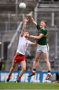 11 August 2019; Jason Foley of Kerry in action against Cathal McShane of Tyrone during the GAA Football All-Ireland Senior Championship Semi-Final match between Kerry and Tyrone at Croke Park in Dublin. Photo by Stephen McCarthy/Sportsfile