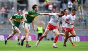 11 August 2019; David Clifford of Kerry has his jersey pulled by Ronan McNamee of Tyrone during the GAA Football All-Ireland Senior Championship Semi-Final match between Kerry and Tyrone at Croke Park in Dublin. Photo by Brendan Moran/Sportsfile