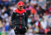 11 August 2019; Tyrone manager Mickey Harte before the GAA Football All-Ireland Senior Championship Semi-Final match between Kerry and Tyrone at Croke Park in Dublin. Photo by Piaras Ó Mídheach/Sportsfile