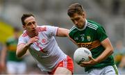 11 August 2019; Adrian Spillane of Kerry in action against Colm Cavanagh of Tyrone during the GAA Football All-Ireland Senior Championship Semi-Final match between Kerry and Tyrone at Croke Park in Dublin. Photo by Piaras Ó Mídheach/Sportsfile