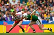 11 August 2019; Jason Foley of Kerry is tackled by Cathal McShane of Tyrone during the GAA Football All-Ireland Senior Championship Semi-Final match between Kerry and Tyrone at Croke Park in Dublin. Photo by Eóin Noonan/Sportsfile
