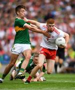 11 August 2019; Cathal McShane of Tyrone  in action against Adrian Spillane of Kerry  during the GAA Football All-Ireland Senior Championship Semi-Final match between Kerry and Tyrone at Croke Park in Dublin. Photo by Ray McManus/Sportsfile