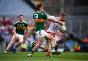 11 August 2019; Cathal McShane of Tyrone in action against David Moran of Kerry during the GAA Football All-Ireland Senior Championship Semi-Final match between Kerry and Tyrone at Croke Park in Dublin. Photo by Stephen McCarthy/Sportsfile