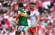 11 August 2019; Michael McKernan of Tyrone with Adrian Spillane of Kerry during the GAA Football All-Ireland Senior Championship Semi-Final match between Kerry and Tyrone at Croke Park in Dublin. Photo by Brendan Moran/Sportsfile