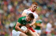 11 August 2019; Adrian Spillane of Kerry in action against Cathal McShane of Tyrone during the GAA Football All-Ireland Senior Championship Semi-Final match between Kerry and Tyrone at Croke Park in Dublin. Photo by Eóin Noonan/Sportsfile