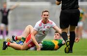 11 August 2019; Niall Sludden of Tyrone and Paul Geaney of Kerry appeal to referee Maurice Deegan following a tussle during the GAA Football All-Ireland Senior Championship Semi-Final match between Kerry and Tyrone at Croke Park in Dublin. Photo by Ramsey Cardy/Sportsfile