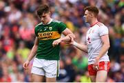 11 August 2019; Conor Meyler of Tyrone taunts Seán O'Shea of Kerry during the GAA Football All-Ireland Senior Championship Semi-Final match between Kerry and Tyrone at Croke Park in Dublin. Photo by Stephen McCarthy/Sportsfile