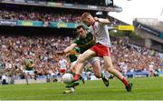11 August 2019; Cathal McShane of Tyrone shoots at goal despite the attention of David Moran of Kerry during the GAA Football All-Ireland Senior Championship Semi-Final match between Kerry and Tyrone at Croke Park in Dublin. Photo by Ramsey Cardy/Sportsfile