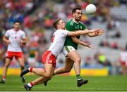 11 August 2019; Jack Sherwood of Kerry in action against Niall Sludden of Tyrone during the GAA Football All-Ireland Senior Championship Semi-Final match between Kerry and Tyrone at Croke Park in Dublin. Photo by Eóin Noonan/Sportsfile