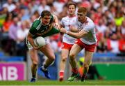 11 August 2019; Tadhg Morley of Kerry in action against Cathal McShane of Tyrone during the GAA Football All-Ireland Senior Championship Semi-Final match between Kerry and Tyrone at Croke Park in Dublin. Photo by Piaras Ó Mídheach/Sportsfile
