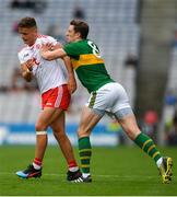 11 August 2019; Paul Murphy of Kerry during a coming together with Michael McKernan of Tyrone during the GAA Football All-Ireland Senior Championship Semi-Final match between Kerry and Tyrone at Croke Park in Dublin. Photo by Eóin Noonan/Sportsfile