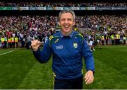 11 August 2019; Kerry manager Peter Keane celebrates following the GAA Football All-Ireland Senior Championship Semi-Final match between Kerry and Tyrone at Croke Park in Dublin. Photo by Ramsey Cardy/Sportsfile