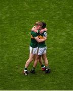 11 August 2019; Jack Sherwood, right, and Tommy Walsh of Kerry celebrate after the GAA Football All-Ireland Senior Championship Semi-Final match between Kerry and Tyrone at Croke Park in Dublin. Photo by Daire Brennan/Sportsfile