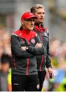 11 August 2019; Tyrone manager Mickey Harte, left, and selector Gavin Devlin during the GAA Football All-Ireland Senior Championship Semi-Final match between Kerry and Tyrone at Croke Park in Dublin. Photo by Ramsey Cardy/Sportsfile