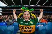 11 August 2019; Kerry supporter Jayden Foley, from Farranfore, prior to the GAA Football All-Ireland Senior Championship Semi-Final match between Kerry and Tyrone at Croke Park in Dublin. Photo by Stephen McCarthy/Sportsfile