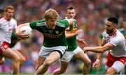 11 August 2019; Tommy Walsh of Kerry in action against Pádraig Hampsey of Tyrone during the GAA Football All-Ireland Senior Championship Semi-Final match between Kerry and Tyrone at Croke Park in Dublin. Photo by Ray McManus/Sportsfile