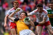 11 August 2019; Shane Ryan of Kerry is tackled by Rory Brennan of Tyrone during the GAA Football All-Ireland Senior Championship Semi-Final match between Kerry and Tyrone at Croke Park in Dublin. Photo by Brendan Moran/Sportsfile
