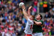 11 August 2019; Cathal McShane of Tyrone in action against Tadhg Morley of Kerry during the GAA Football All-Ireland Senior Championship Semi-Final match between Kerry and Tyrone at Croke Park in Dublin. Photo by Brendan Moran/Sportsfile