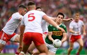 11 August 2019; Brian Ó Beaglaoich of Kerry in action against Michael McKernan, 5, Colm Cavanagh of Tyrone and Brian Kennedy of Tyrone during the GAA Football All-Ireland Senior Championship Semi-Final match between Kerry and Tyrone at Croke Park in Dublin. Photo by Ray McManus/Sportsfile