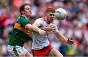 11 August 2019; Cathal McShane of Tyrone in action against Tadhg Morley of Kerry during the GAA Football All-Ireland Senior Championship Semi-Final match between Kerry and Tyrone at Croke Park in Dublin. Photo by Piaras Ó Mídheach/Sportsfile