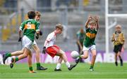 11 August 2019; Conor Bodkin, St. Patricks PS, Tuam, Galway, representing Tyrone, during the INTO Cumann na mBunscol GAA Respect Exhibition Go Games during the GAA Football All-Ireland Senior Championship Semi-Final match between Kerry and Tyrone at Croke Park in Dublin. Photo by Piaras Ó Mídheach/Sportsfile
