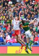 11 August 2019; Colm Cavanagh of Tyrone and David Moran of Kerry contest a kickout during the GAA Football All-Ireland Senior Championship Semi-Final match between Kerry and Tyrone at Croke Park in Dublin. Photo by Brendan Moran/Sportsfile