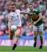 11 August 2019; Niall Sludden of Tyrone in action against Stephen O'Brien of Kerry during the GAA Football All-Ireland Senior Championship Semi-Final match between Kerry and Tyrone at Croke Park in Dublin. Photo by Brendan Moran/Sportsfile