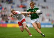 11 August 2019; Killian Spillane of Kerry in action against t7 during the GAA Football All-Ireland Senior Championship Semi-Final match between Kerry and Tyrone at Croke Park in Dublin. Photo by Eóin Noonan/Sportsfile