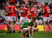 10 August 2019; Cork players celebrate following the Electric Ireland GAA Football All-Ireland Minor Championship Semi-Final match between Cork and Mayo at Croke Park in Dublin. Photo by Sam Barnes/Sportsfile