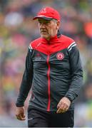 11 August 2019; Tyrone manager Mickey Harte during the GAA Football All-Ireland Senior Championship Semi-Final match between Kerry and Tyrone at Croke Park in Dublin. Photo by Ramsey Cardy/Sportsfile