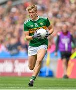 11 August 2019; Killian Spillane of Kerry during the GAA Football All-Ireland Senior Championship Semi-Final match between Kerry and Tyrone at Croke Park in Dublin. Photo by Ramsey Cardy/Sportsfile