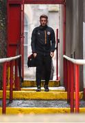 9 August 2019; Conor Clifford of St Patrick's Athletic arrives prior to the Extra.ie FAI Cup First Round match between St. Patrick's Athletic and Bray Wanderers at Richmond Park in Dublin. Photo by Ben McShane/Sportsfile